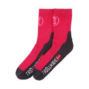 TROLLKIDS Sportovní ponožky  magenta / černá