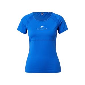 4F Funkční tričko  kobaltová modř / bílá