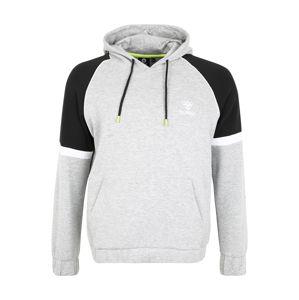 Hummel Sportovní mikina 'LAYTON'  černá / bílá / šedá