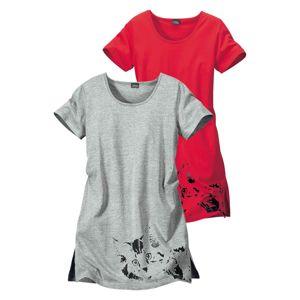 VIVANCE Noční košilka  brusinková / šedý melír