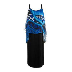 Ulla Popken Plážové šaty 'Giraffe'  modrá / černá
