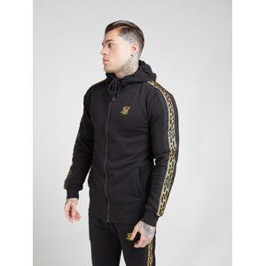 SikSilk Mikina 'siksilk nylon panel zipthrough hoodie'  zlatá / černá