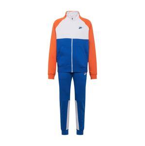 Nike Sportswear Joggingová souprava 'M NSW CE TRK SUIT FLC'  modrá / bílá / červená