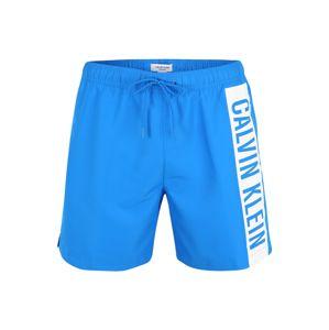 Calvin Klein Swimwear Plavecké šortky  modrá / bílá