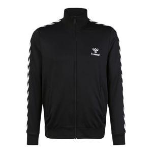 Hummel Sportovní mikina s kapucí 'Nathan'  černá / bílá