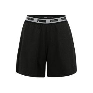 PUMA Sportovní kalhoty  černý melír