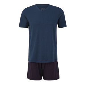 SCHIESSER Pyžamo krátké  červená / modrá