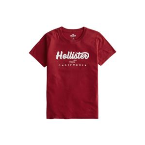 HOLLISTER Tričko 'TECH CORE'  červená třešeň / bílá