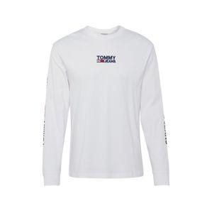 Tommy Jeans Tričko  bílá / červená / tmavě modrá