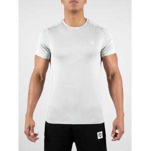 MOROTAI Funkční tričko 'Mesh Tee'  šedá / bílá