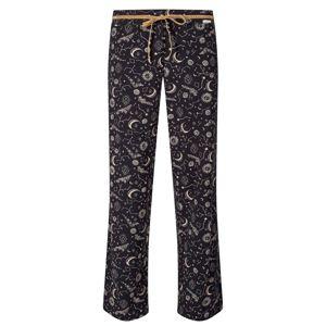 Skiny Pyžamové kalhoty  meruňková / černá / bílá