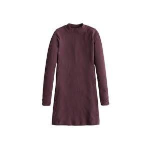 HOLLISTER Úpletové šaty 'HIGH NECK COZY DRESS'  vínově červená