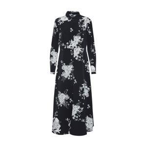 VERO MODA Košilové šaty 'VMMIKKA L/S SHIRT ANKLE DRESS'  černá