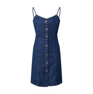 PIECES Letní šaty 'MALLE'  modrá džínovina