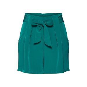 VILA Kalhoty se sklady v pase 'VIKASHA HWRX SHORTS'  zelená