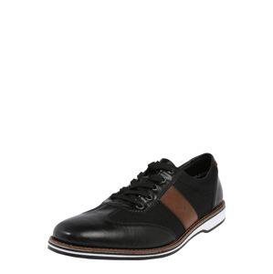 RIEKER Sportovní šněrovací boty  tmavě hnědá / černá