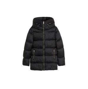 MANGO Zimní bunda 'ANORAK TULIPA'  černá
