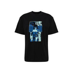 EDWIN Tričko 'Apollo Thomas - High Fantasy'  černá / modrá