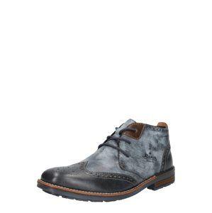 RIEKER Kotníkové boty  chladná modrá / tmavě šedá