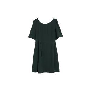 MANGO Šaty  tmavě zelená