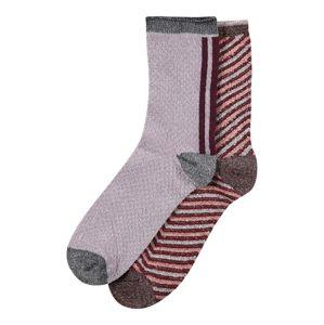BeckSöndergaard Ponožky 'W.13'  šeříková / tmavě hnědá
