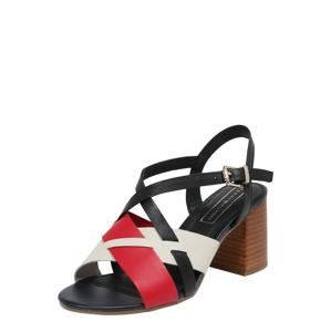 TOMMY HILFIGER Páskové sandály 'Interwoven'  modrá / červená / bílá