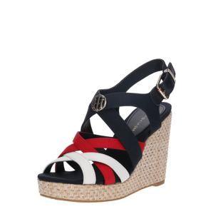TOMMY HILFIGER Páskové sandály 'Iconic Elena'  bílá / modrá / červená
