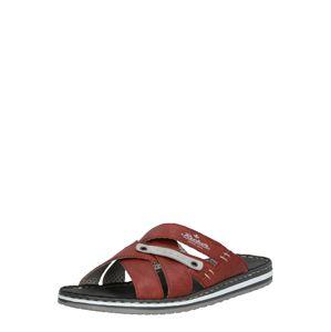 RIEKER Pantofle  pastelově červená
