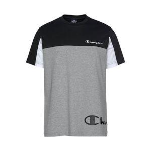 Champion Authentic Athletic Apparel Tričko  šedý melír / černá / bílá