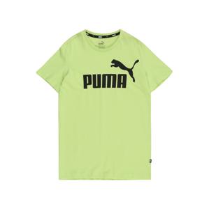 PUMA Tričko 'ESS'  světle zelená / černá