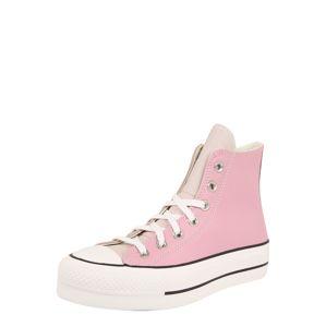CONVERSE Kotníkové tenisky 'Chuck Taylor All Star Lift'  bílá / béžová / pink