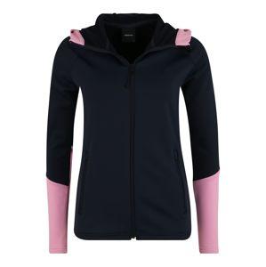 PEAK PERFORMANCE Sportovní mikina s kapucí 'RIDER ZIP'  tmavě modrá / růžová