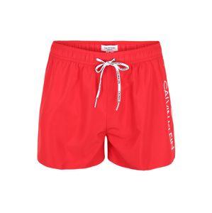 Calvin Klein Swimwear Plavecké šortky  červená / bílá