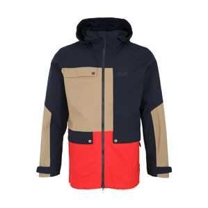 JACK WOLFSKIN Sportovní bunda '365 Influencer'  tmavě modrá / světle hnědá / červená