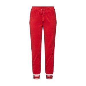Juicy Couture Black Label Kalhoty 'JUICY'  červená / bílá