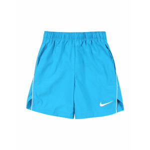 NIKE Sportovní kalhoty  bílá / světlemodrá