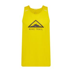 NIKE Funkční tričko 'Nike Rise'  černá / žlutá