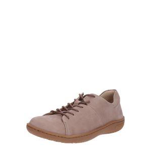 BIRKENSTOCK Sportovní šněrovací boty 'Lora'  šedobéžová