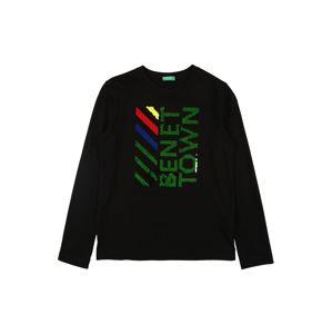 UNITED COLORS OF BENETTON Tričko  černá / trávově zelená / námořnická modř / červená / žlutá