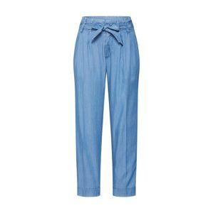 TOM TAILOR DENIM Kalhoty se sklady v pase  modrá džínovina