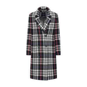 SELECTED FEMME Přechodný kabát  pink / černá / bílá