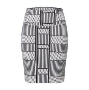 Kaffe Sukně 'KAparris Penny Skirt'  světle šedá / černá / bílá