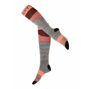 ROXY Sportovní ponožky 'MISTY'  pink / šedá