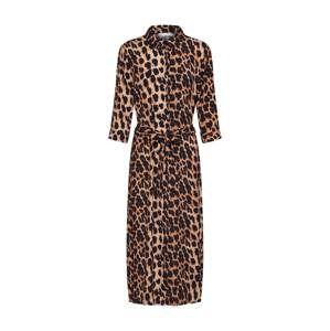 Freebird Košilové šaty  hnědá / černá