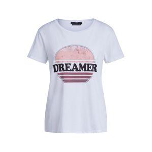 SET Tričko  bílá / pink / černá