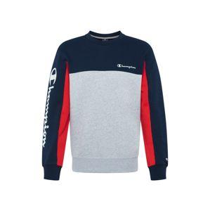 Champion Authentic Athletic Apparel Mikina  námořnická modř / šedý melír / červená
