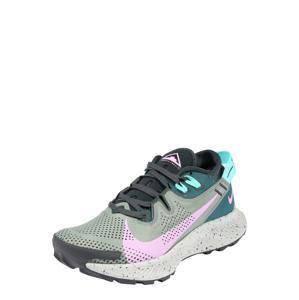 NIKE Sportovní boty 'Pegasus Trail 2'  růžová / petrolejová / tyrkysová / olivová