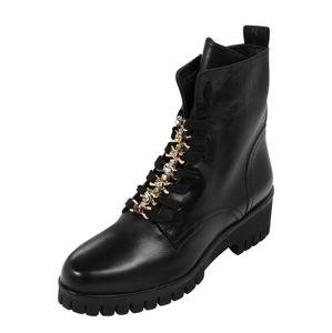 Donna Carolina Šněrovací boty  černá / zlatá