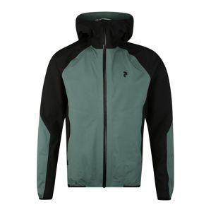 PEAK PERFORMANCE Sportovní bunda  černá / zelená