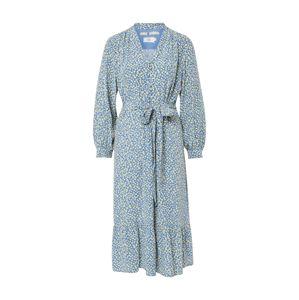 Noa Noa Košilové šaty  mix barev / kouřově modrá / citronová